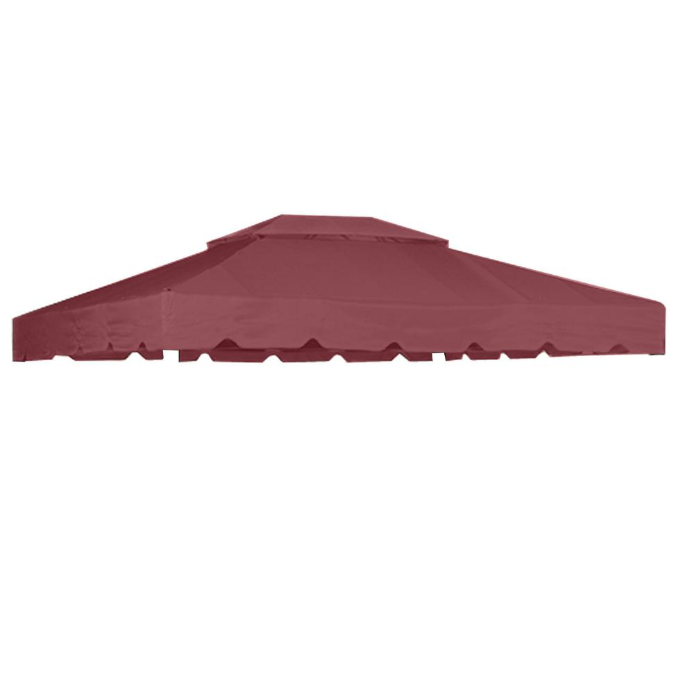 RipLock 350 Nutmeg Replacement Canopy for Antigua 12 ft. x 10 ft. Garden House