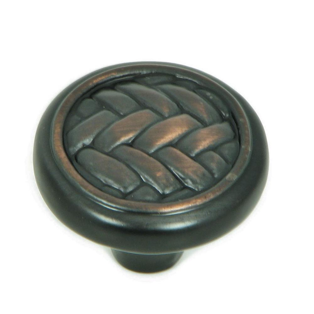 Harris 1-1/4 in. Oil Rubbed Bronze Round Cabinet Knob (10-Pack)