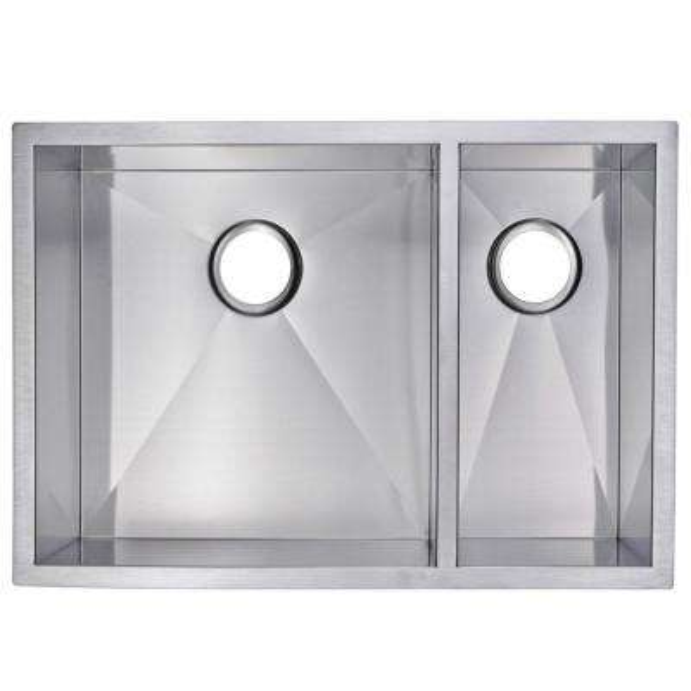 Undermount Stainless Steel 29 in. Double Bowl Kitchen Sink in Satin