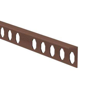 Novosuelo Matt Copper 1/2 in. x 98-1/2 in. Aluminum Tile Edging Trim