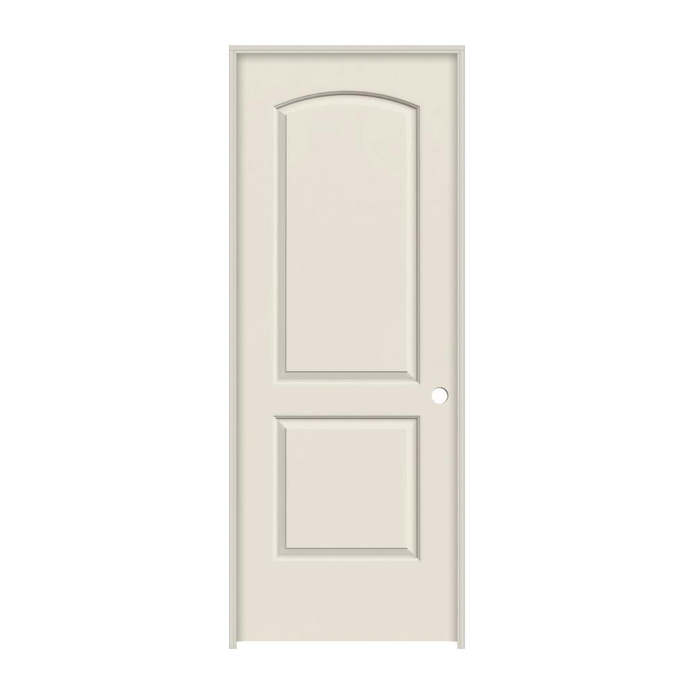 Continental Primed Left Hand Smooth Molded Composite Mdf Single Prehung Interior Door W Flat Jamb