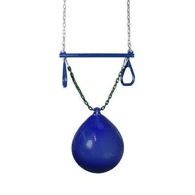 Blue Buoy Ball with Trapeze Bar