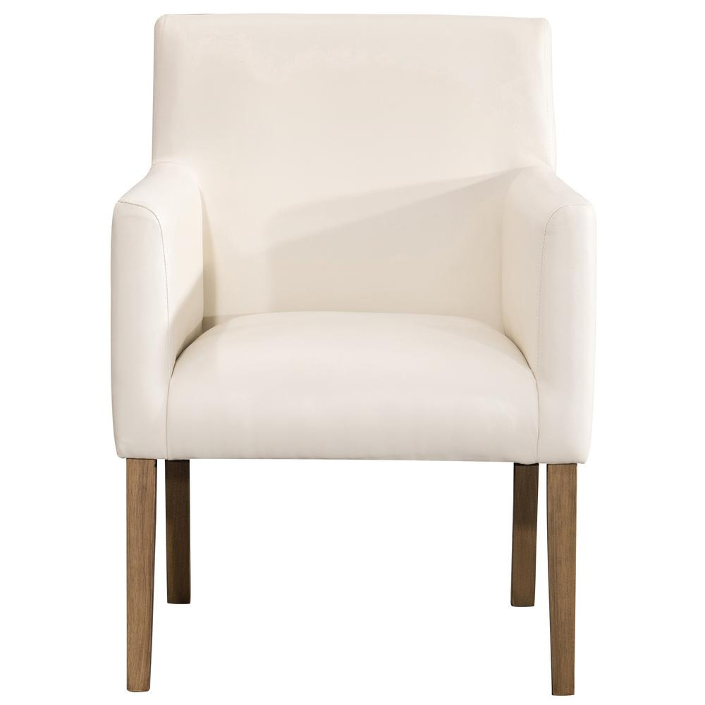 Homepop Cream Faux Leather Lexington Dining Chair K7091 Yq