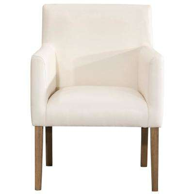 Cream Faux Leather Lexington Dining Chair