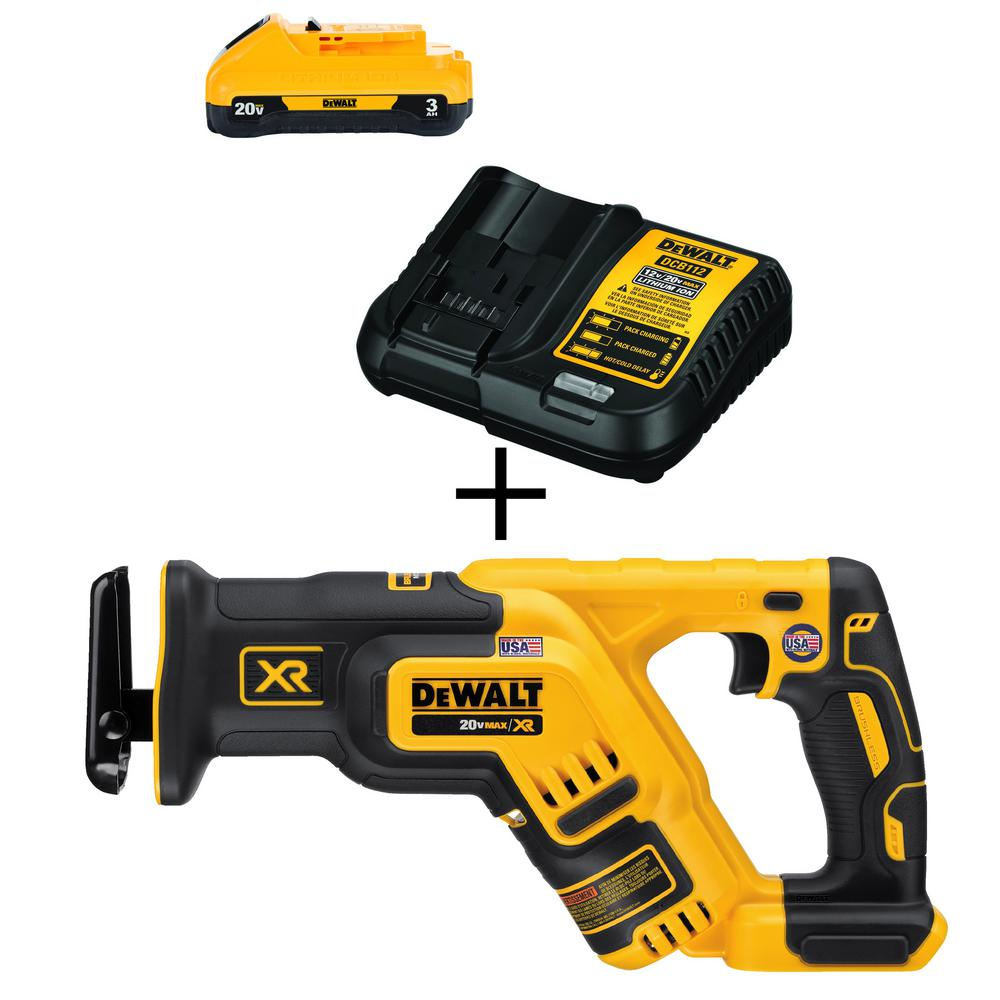 DEWALT 20-Volt MAX Lithium-Ion Cordless Brushless Reciprocating Saw (Tool-Only) with Free 20-Volt MAX Battery 3.0Ah & Charger was $249.8 now $199.0 (20.0% off)