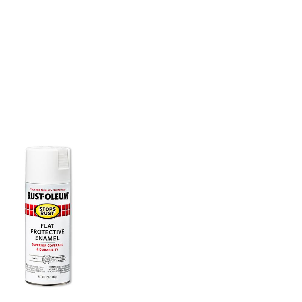 Rust-Oleum Stops Rust 12 oz. Protective Enamel Flat White Spray Paint