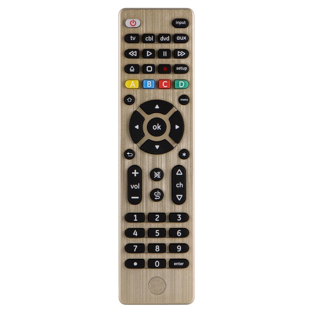 4-Device Universal Remote Control, Gold