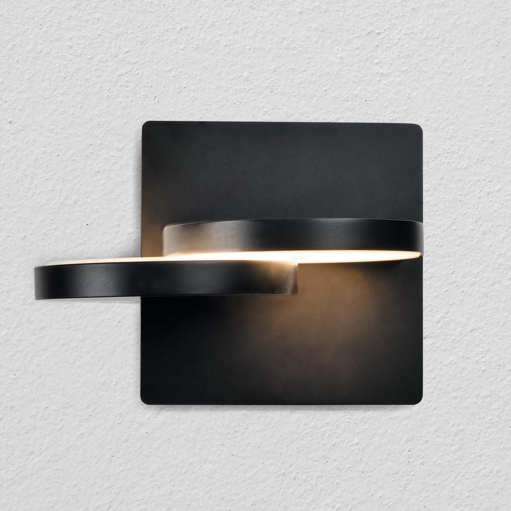 Eclipse 11-Watt Black Integrated LED Sconce