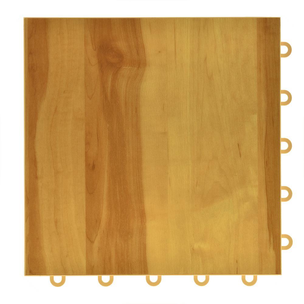 Basketball Pro Maple 12-1/8 in. x 12-1/8 in. Interlocking Gym Court Vinyl Tile Flooring (26.5 sq .ft.) (26-Pack)