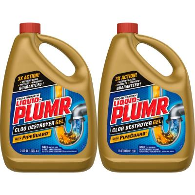 80 oz. Pro Strength Full Clog Destroyer and Drain Cleaner Plus PipeGuard (2-Pack)