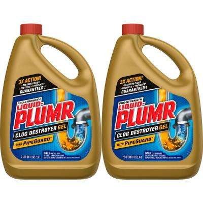 80 oz. Professional Strength Full Clog Destroyer and Drain Cleaner (2-Pack)