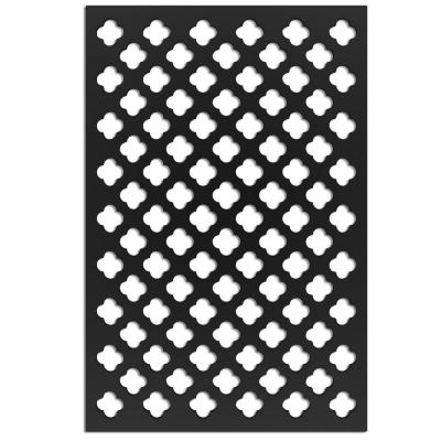 Clover 32 in. x 4 ft. Black Vinyl Decorative Screen Panel