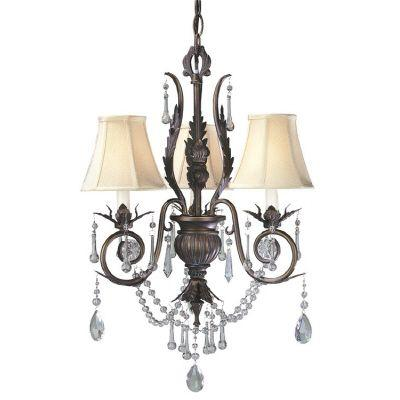 null Dramatic Bronze Mini Chandelier