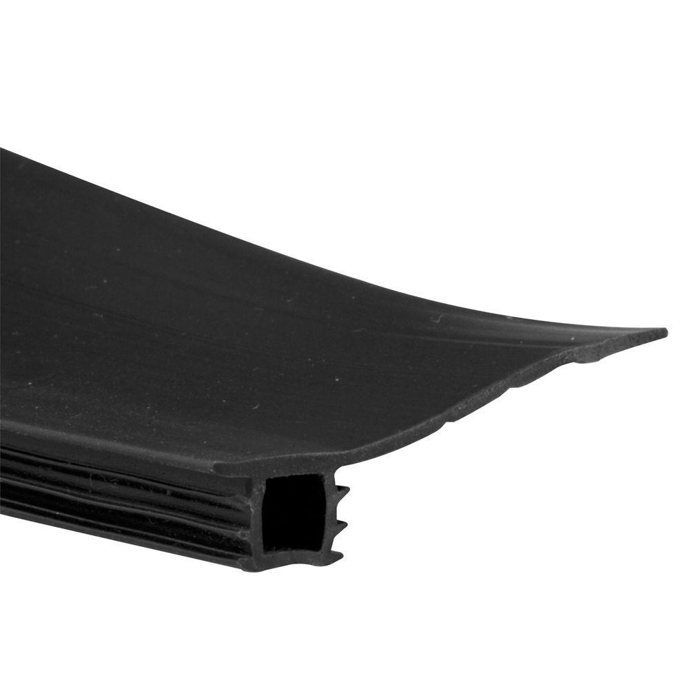 3/4 in. to 1-3/8 in. W, 7 ft. Black Vinyl Bug Seal Weatherstrip