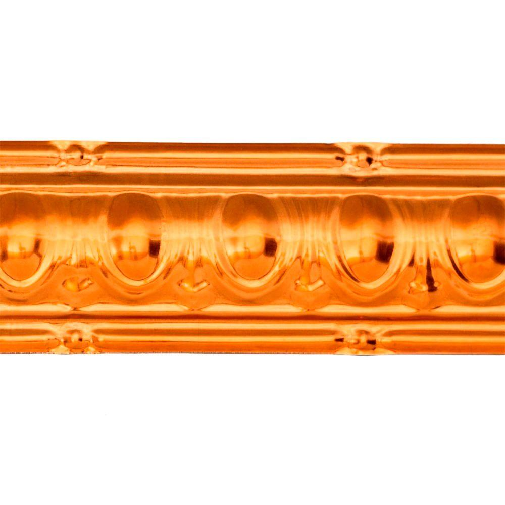 48 in. Huron Tin Crown Molding in Copper (Brown)