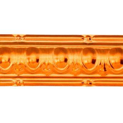 48 in. Huron Tin Crown Molding in Copper