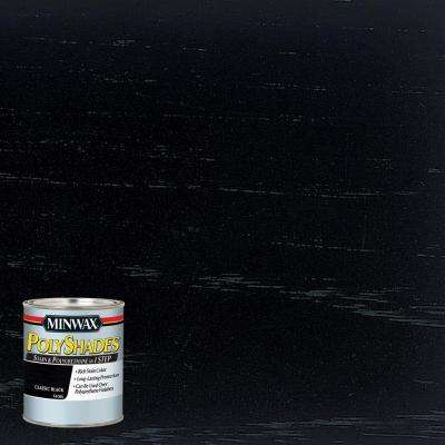 8 oz. PolyShades Classic Black Gloss Stain and Polyurethane in 1-Step (4-Pack)