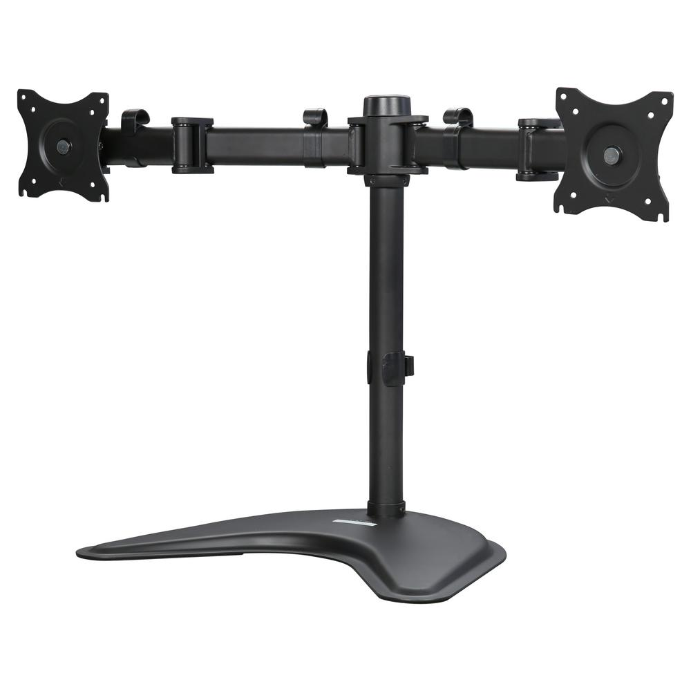 Groovy Rosewill Dual Monitor Desk Stand Supports Two 13 In To 27 In Displays Tilt Swivel Rotate Home Interior And Landscaping Mentranervesignezvosmurscom