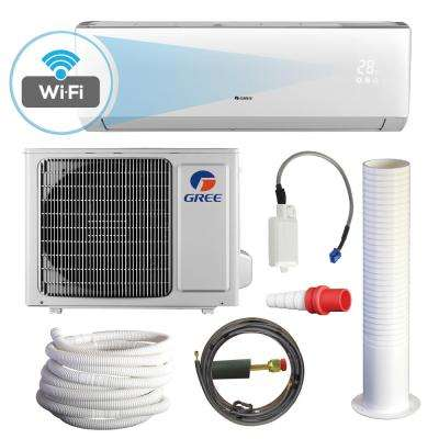 LIVO 9,000 BTU 3/4 Ton Wi-Fi Programmable Ductless Mini Split Air Conditioner with Heat Kit - 230-208V/60Hz