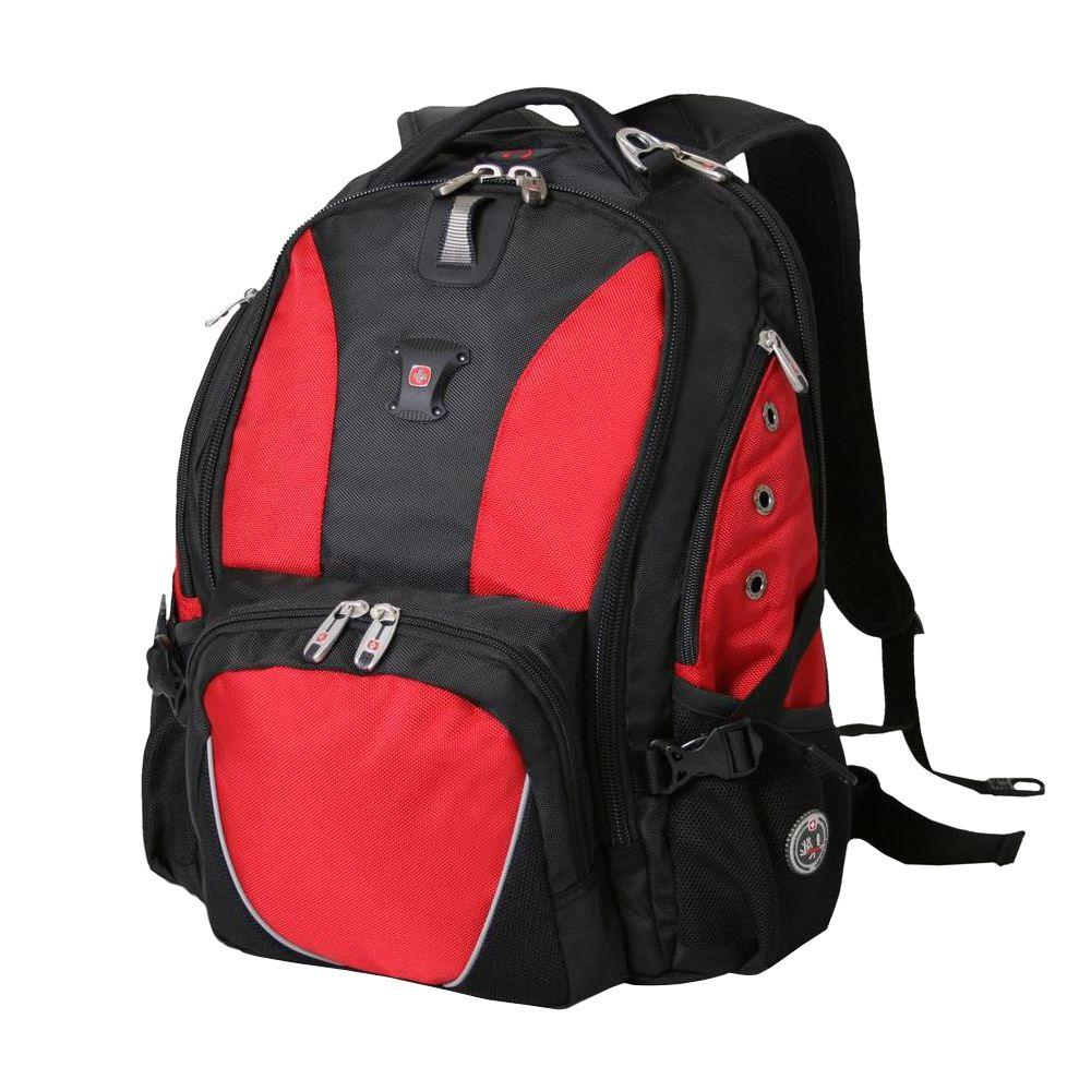 SWISSGEAR Black and Red Laptop Backpack-15922115 - The Home Depot