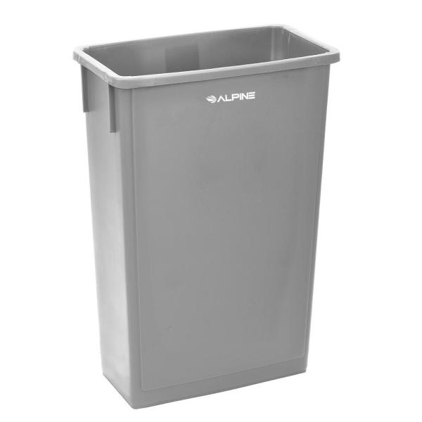 23 Gal. Gray Waste Basket Commercial Trash Can