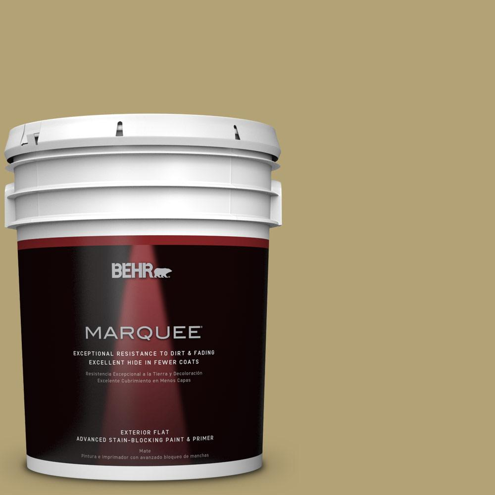 5-gal. #PMD-101 Green Fig Flat Exterior Paint
