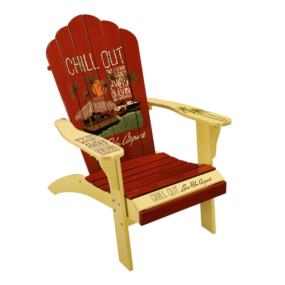 Margaritaville Chill Out Classic Adirondack Patio Chair-DISCONTINUED