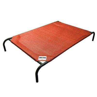 Medium Size Steel Pet Bed Terracotta