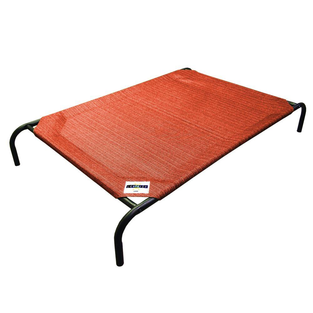 Coolaroo Large Size Steel Pet Bed Terracotta