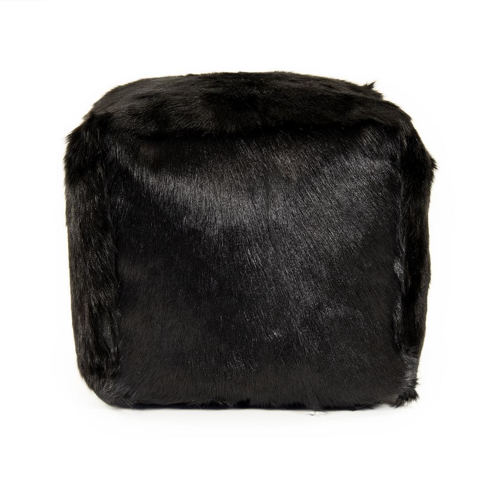 zentique Tibetan Black Goat Fur Pouf was $477.0 now $315.0 (34.0% off)