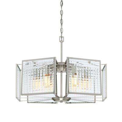 Pivot 6-Light Satin Platinum Interior Chandelier
