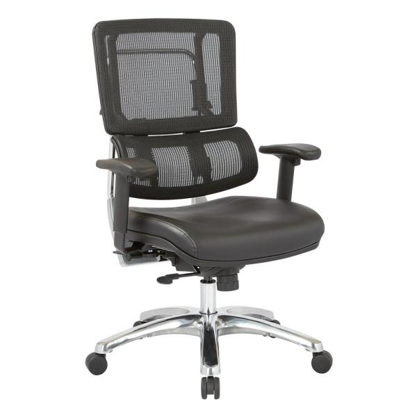 Office Star Products Black Mesh Vertical Back Office Chair 99662C-R107