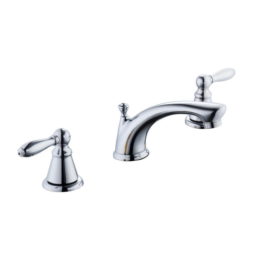 Glacier bay 2500 series 8 in widespread 2 handle bathroom for 8 widespread bathroom faucet chrome