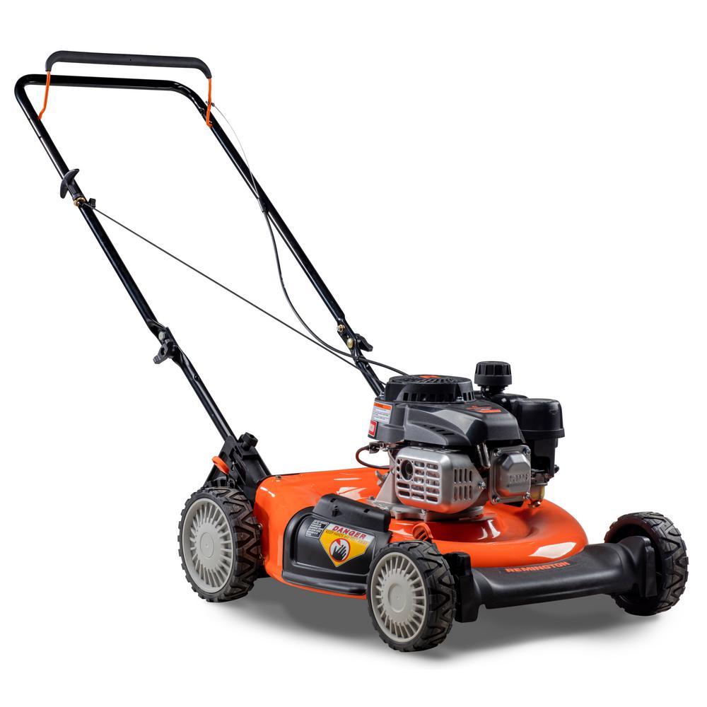 remington 21 in 132cc 2 in 1 gas walk behind push mower rm110 trail rh homedepot com Lawn Boy Project Lawn-Boy Mowers