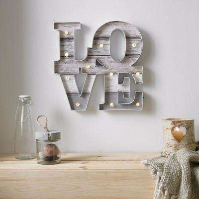 Love Battery Operated Lighted Sign