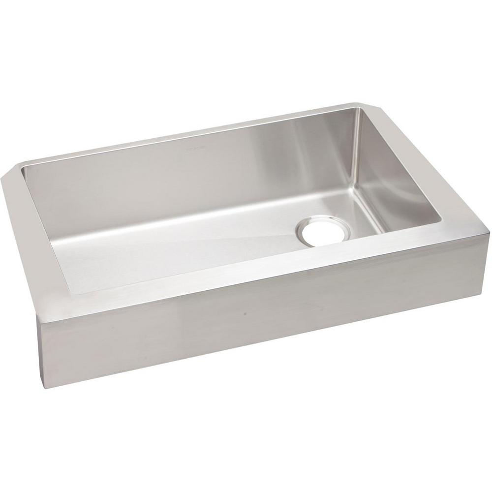 Elkay crosstown farmhouse apron front stainless steel 36 in single bowl kitchen sink - Kitchen sinks apron front ...