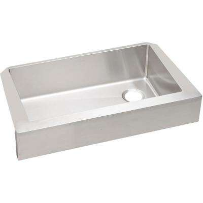 Crosstown Farmhouse Apron Front Stainless Steel 36 in. Single Bowl Kitchen Sink