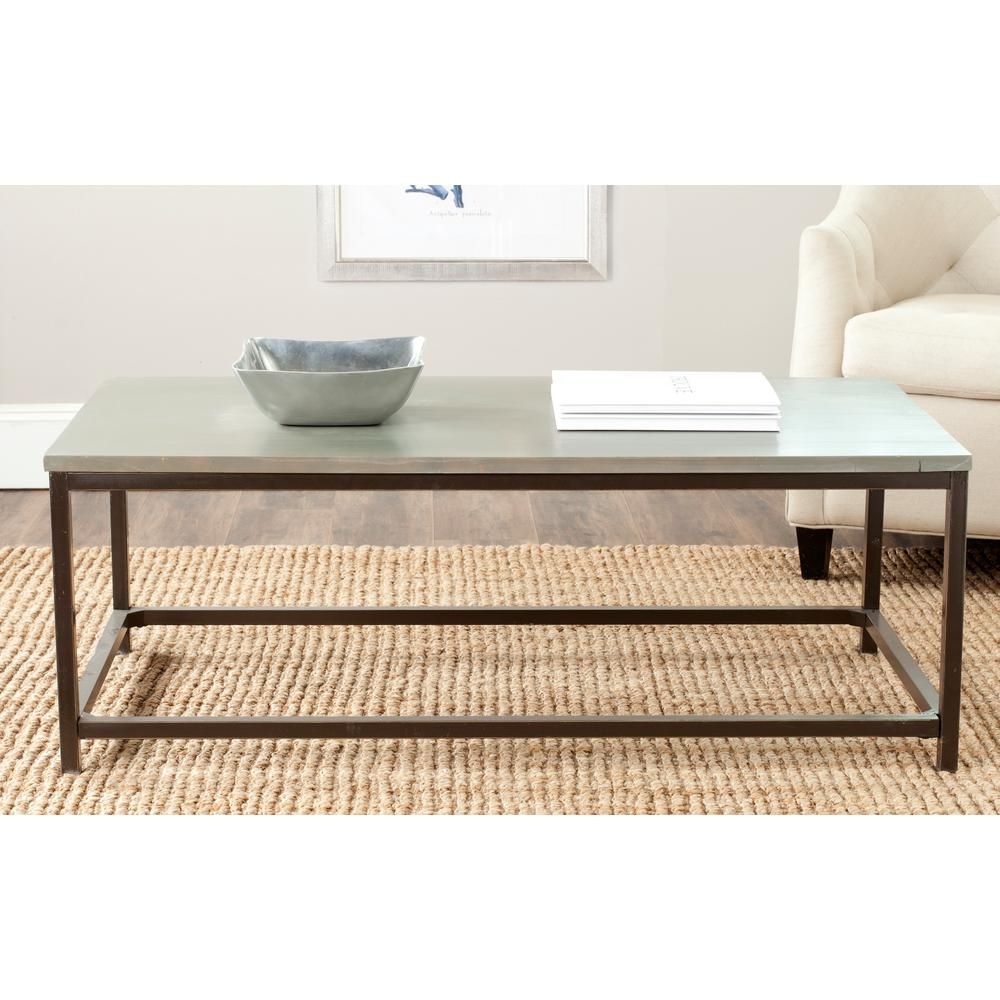 Safavieh Alec Ash Grey Coffee TableAMH6545D The Home Depot