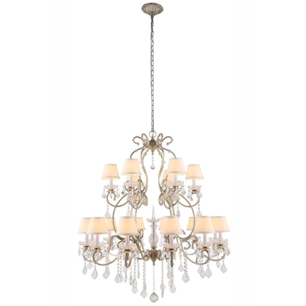 garland in buy gold leaf finish silver the chandelier