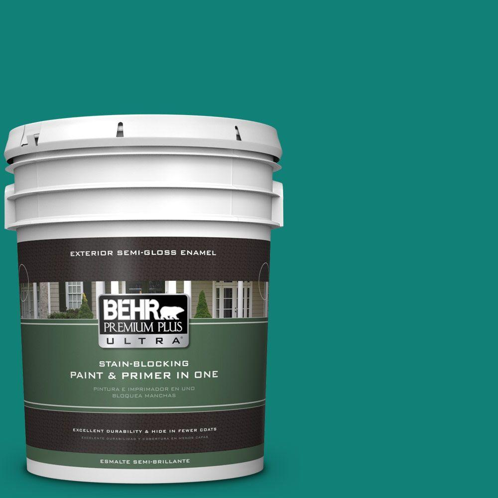 BEHR Premium Plus Ultra Home Decorators Collection 5-gal. #hdc-WR14-9 Green Garlands Semi-Gloss Enamel Exterior Paint