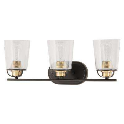 Inspiration 23.19 in. 3-Light Antique Bronze Bath Light