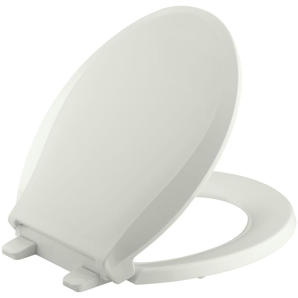 KOHLER Grip-Tight Cachet Q3 Round Closed Front Toilet Seat in Dune