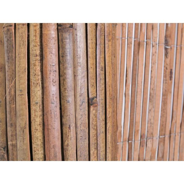 Backyard X Scapes 6 Ft H X 16 Ft L Bamboo Carbonized Split Slat Fencing 20 Bsc The Home Depot