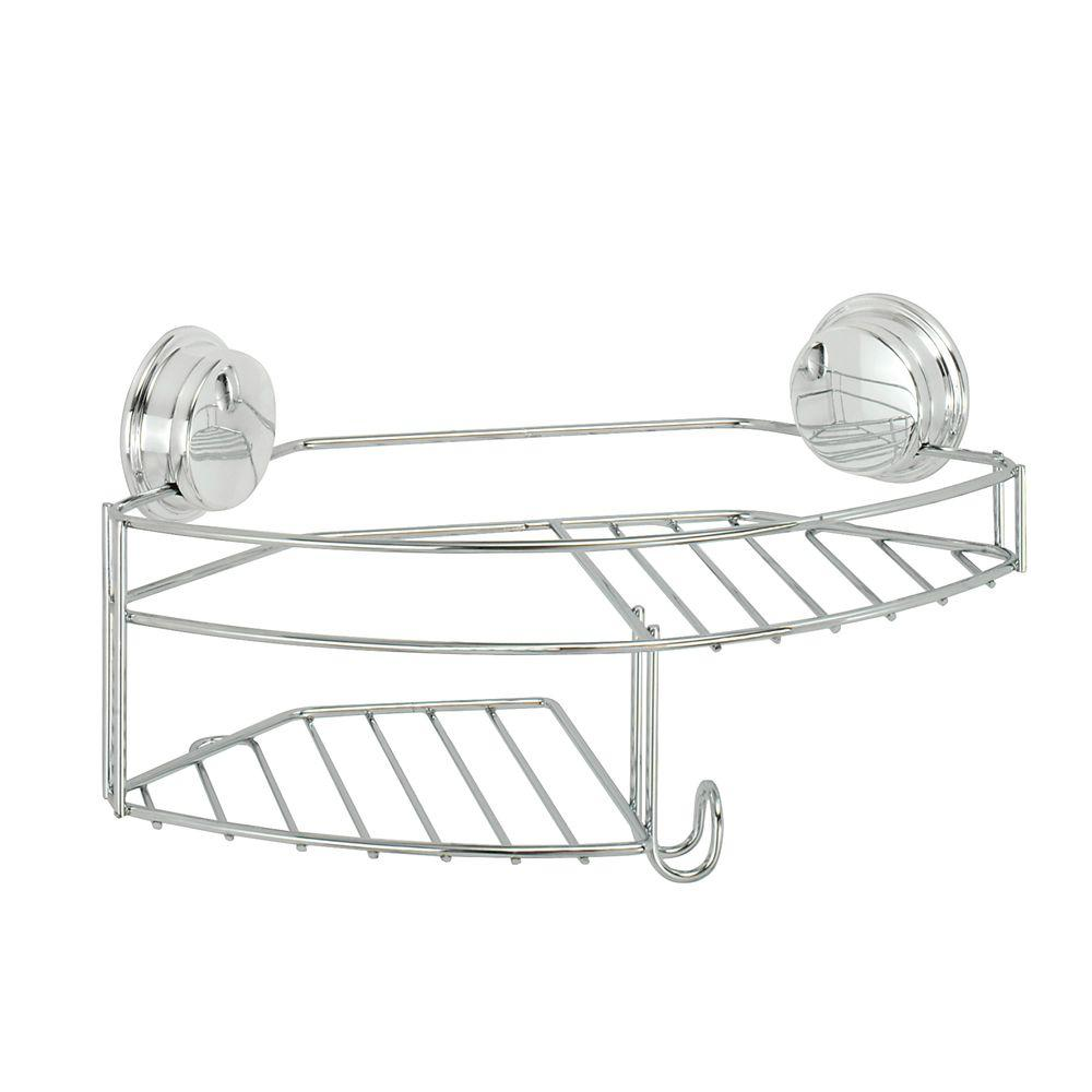 Twist 'N' Lock Plus Combo Shower Basket in Chrome