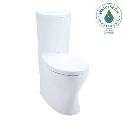 Persuade 2-piece 1.0 or 1.6 GPF Dual Flush Elongated Toilet in White