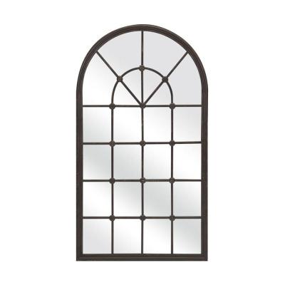 Large Oval Brown Mirror (50 in. H x 28.5 in. W)