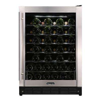 23.4 in. W 50-Bottle Wine Cooler in Stainless Steel