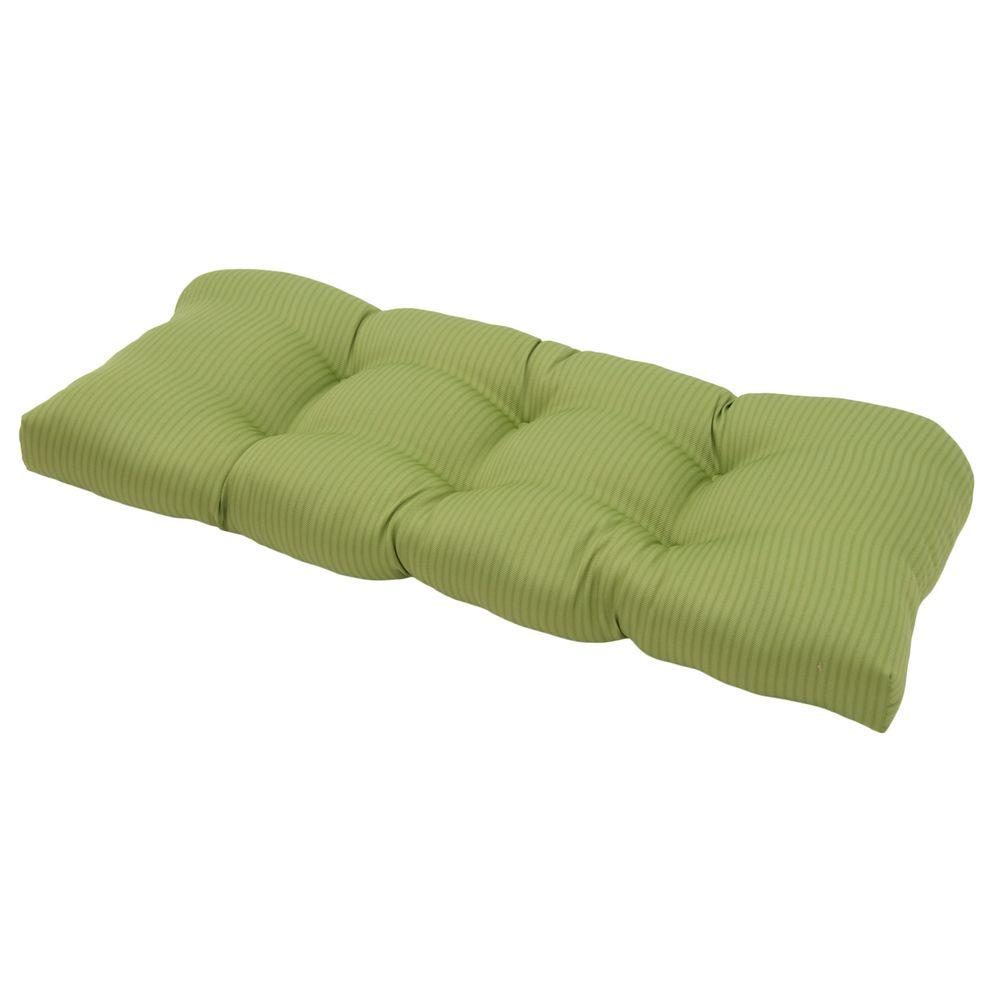 Hampton Bay Apple Texture Tufted Outdoor Settee Cushion