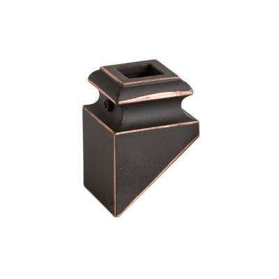 Square Hole 1.3125 in. Aluminum Angled Shoe Baluster Shoe Oil Rubbed Copper