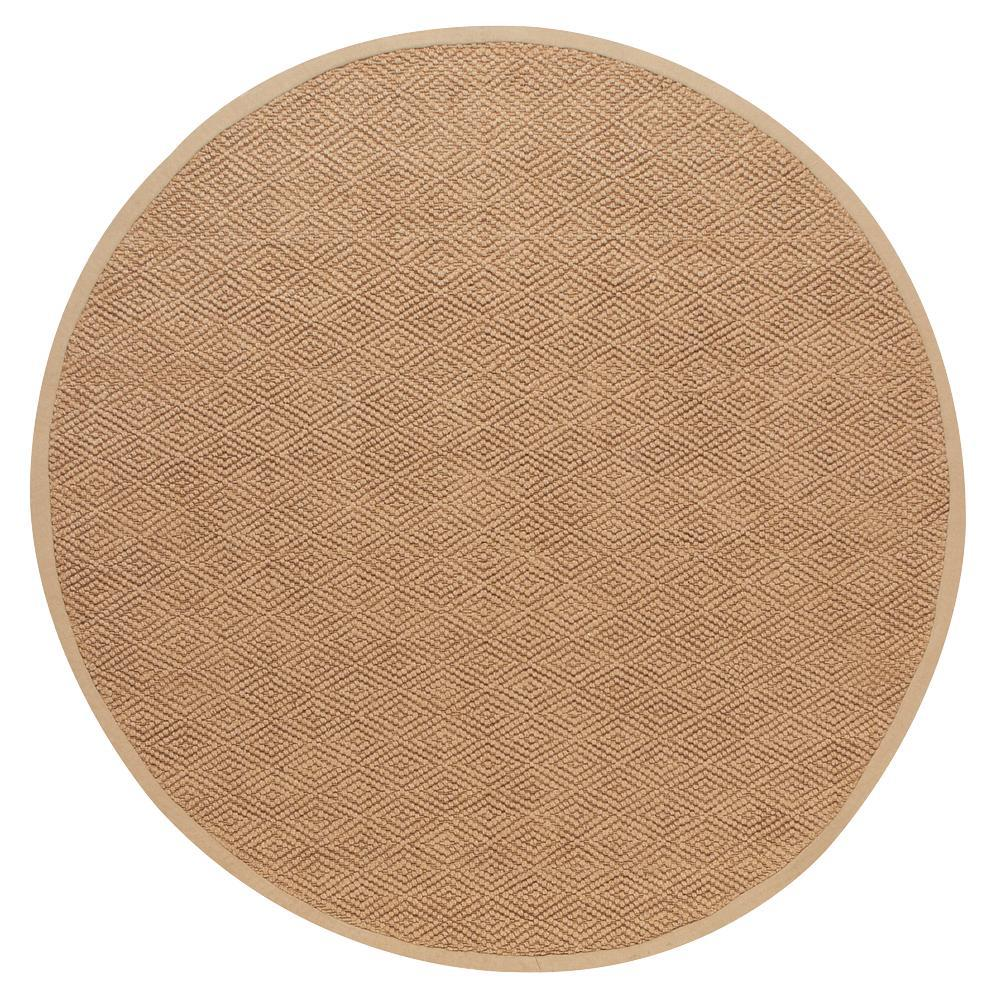 Home Decorators Collection Diamond Jute Dark Natural 8 Ft